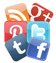 Social Media Icon Collage